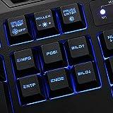 Sharkoon Skiller Pro beleuchtete Gaming Tastatur (9 Multimedia-, 6 Makro- und 3 Profil-Tasten, Software, USB) schwarz - 3