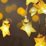 LED Lichterkette, Frashing Warme Farbe Schlafzimmer Licht Kreatives Geschenk Pentagramm Romantische Atmosphäre Lichter Neon Oktoberfest Halloween Weihnachtsbeleuchtung Batteriebetrieb (3m-20 Lampe)