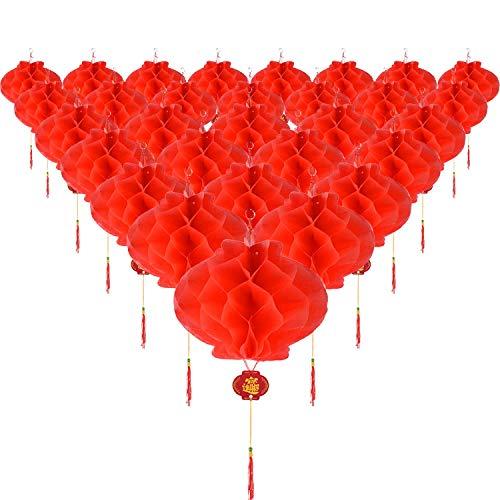 Anjing 30 farolillos Colgantes plástico Rojo decoración