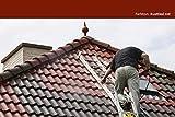 6KG Dachfarbe in Rustikal rot für Ziegel, Dachpfanne, Eternit TÜV-GEPRÜFT Dachsanierung Dachbeschichtung Dachziegel Farbe Ziegelrot