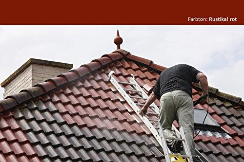BEKATEQ BE-510 Dachfarbe, 10l Dunkelrot, für Ziegel, Dachpfanne, Eternit - Dachsanierung Dachbeschichtung Dachziegel Farbe