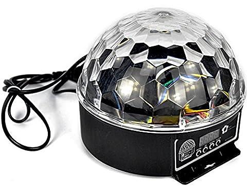 DMX Effet de Lumière Disco DJ Boule à facettes LED lumière lampe spot projecteur Party