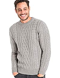 083dc7036d7 Wool Overs Pull Irlandais - Homme - Pure Laine Flannel Grey
