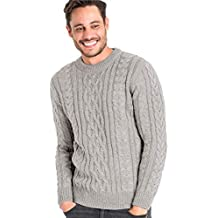 a2dce9632f4b Wool Overs Pull Irlandais - Homme - Pure Laine Flannel Grey