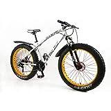 MYTNN Vélo VTT 26' 21 vitesses Shimano Fat Tyre 47 cm RH Snow Bike Fat Bike, Différents coloris