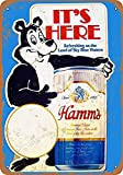 Sary buri Metal Tin Sign Poster Hamm's Beer Bear Shop