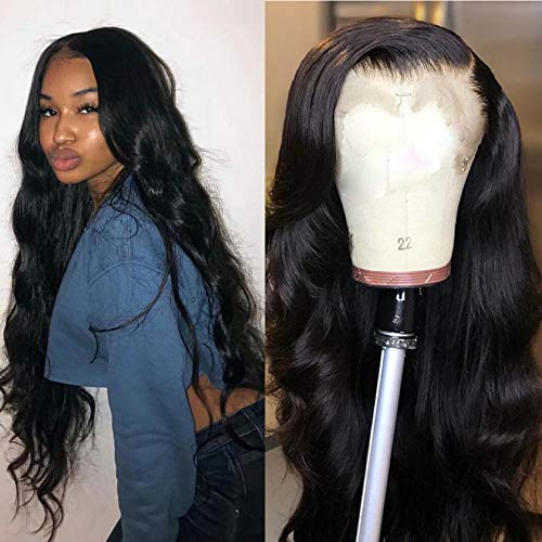 Maxine 360 Lace Frontal Wig 180% Density Pre-Plucked Hairline 100% Unprocessed 9a Human Hair Wig Body Wave Hair Lace Front Wig for Black Women 20 inch