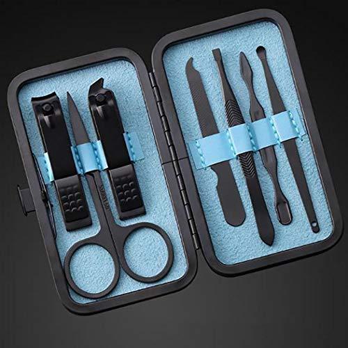 7 Piezas Set de Cortaúñas Kit de Manicura y Pedicura de Acero Inoxidable Herramientas para el Cuidado de las Uñas
