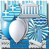 Griechenland Partydeko Set Grundausstattung