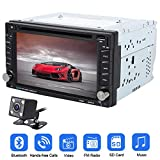 ODOMY Double 2 Din GPS-Auto-Stereo DVD CD-Player mit 6,2 Zoll kapazitiven Touch Screen Unterstützung FM AM RDS-Radio Aux USB Dual SD Card Slot Bluetooth Audio Receiver + Fernbedienung