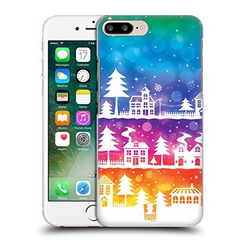 Head Case Designs Vacanza Porpora Città Invernali Cover Retro Rigida per Apple iPhone 7 Plus / 8 Plus Vacanza Colorata