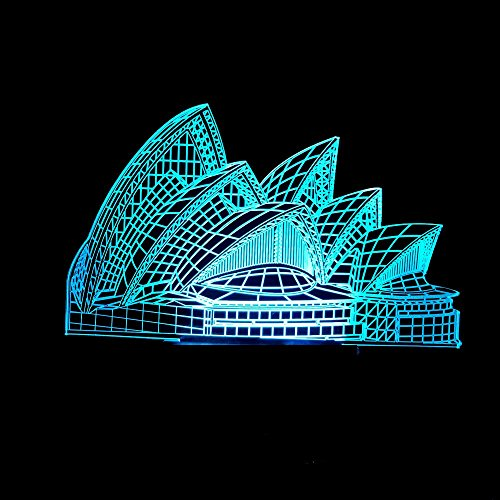 (RAINBOW MEETING Sydney Opera House 3D Nachtlichter bunte dekorative Tischlampen LED visuelle Lichter)