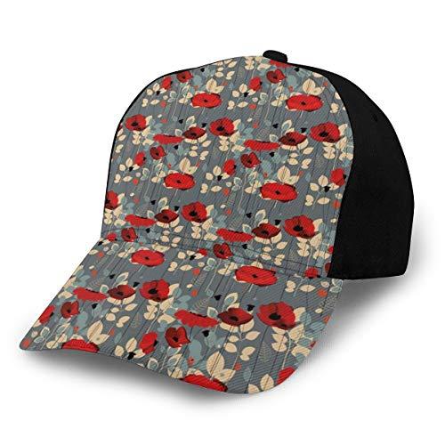 Hip Hop Sun Hat Baseball Cap,Abstraction of A Growing Floral Garden Leaves Botanical Modern Nature Display,for Men&Women