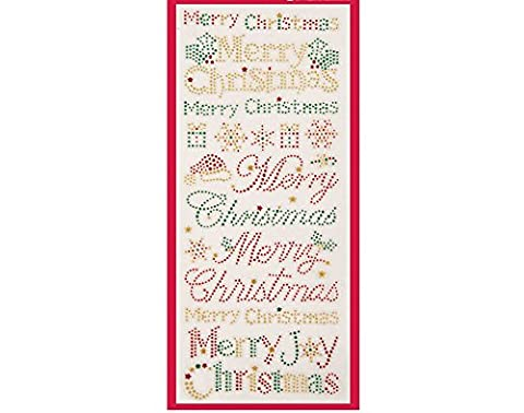 Papermania Merry Christmas Text Glitter Dot Stickers for Crafts