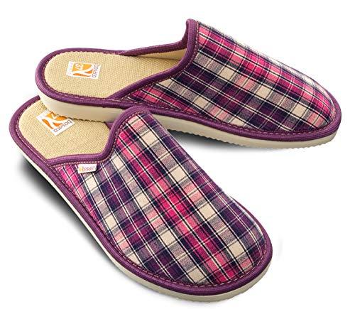 Bosaco esclusive pantofole donne (37, checkered viola 2)