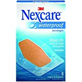 Nexcare Waterproof Clear Bandage Knee and Elbow 8-Count Packages (Pack of 6)