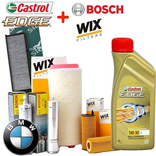 Kit tagliando olio CASTROL EDGE 5W30 6LT