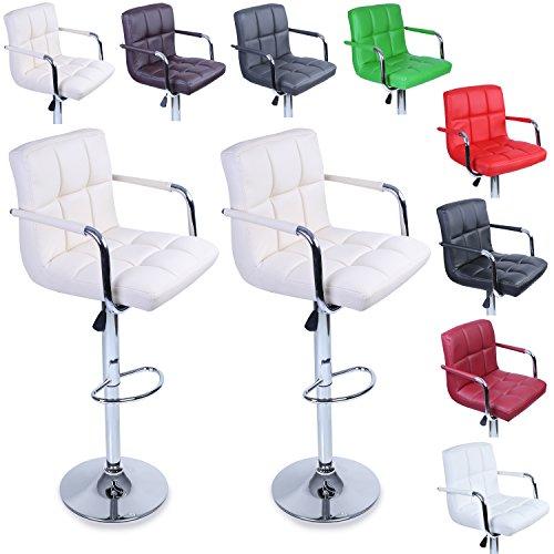 TRESKO-Lot-de-2-Tabourets-de-bar-Chaise-de-bar-Chaise-lounge-avec-dossier-et-accoudoir-8-couleurs-diffrentes-chrom-rotation–360-hauteur-rglable-de-620–825-cm