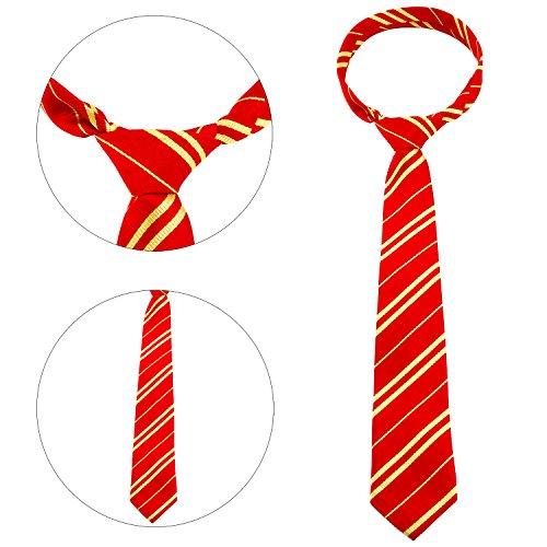 Aneco 4 Set cravatta a righe con novità montatura per occhiali per Harry Potter Accessorio per costumi Cosplay o Party (misto 4 colori)
