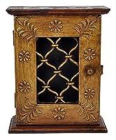 indiano tradizionale design attraente in legno intagliato chiave gancio porta con scatola dipinta a mano. Un magnifico pezzo d' arte dall' India per dare al vostro arredamento etnico indiano look.A decorare uno spazio nudo con questo portachiavi etni...