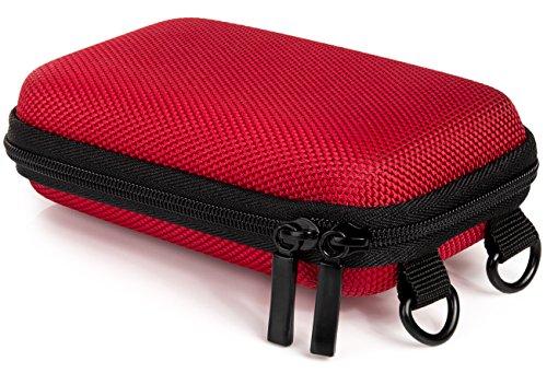 Bundlestar Hardcase PURE S Kameratasche mit Schultergurt und Gürtelschlaufe, rot