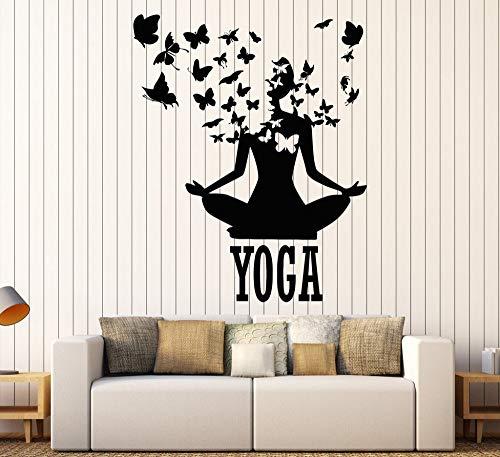 wandaufkleber affe acryl spiegel 73x90cm Lotus Meditation Buddhism Vinyl Wall Stickers Decor Yoga Center Pose Sticker Removable Waterproof Design Wall Decal