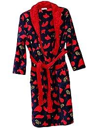 MagiDeal Hommes Peignoirs Pyjama Douce Robe De Sommeil Chaud Hiver Robe Vêtements Nuit Loisirs Manches Longues Confortable
