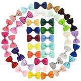 40 Pcs Barrettes à Cheveux en forme de Noeud Papillon Pinces à Cheveux Épingle à Cheveux Cheveux Arc Clips de cheveux pour Bébé Fille Enfant Cadeau