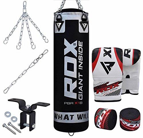 RDX Boxsack Set Gefüllt Kickboxen MMA Muay Thai Boxen mit Deckenhalterung Stahlkette Abbildung 2