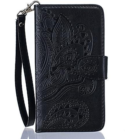 Cozy Hut ® P9 Lite Cover, Huawei P9 Lite Custodia in pelle, Copertura di Vibrazione (Vetro Peacock)