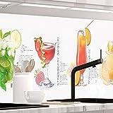 StickerProfis Küchenrückwand selbstklebend Pro Summer Drinks 60 x 220cm DIY - Do It Yourself PVC Spritzschutz