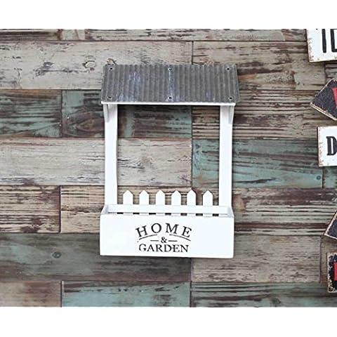 New day-País que hace el almacenaje antiguo de la cocina de porte-bagages el jardinage bois décorations murales flor floral rejillas 26X15.5X36.5CM , white ,