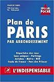 Atlas routiers : Plan de Paris par arrondissement - Spécial poche