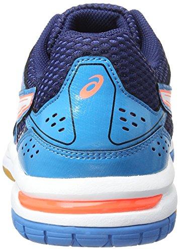 Asics Gel-Rocket 7, Scarpe da Pallavolo Donna Blu (Blue Jewel/White/Flash Coral)