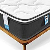 Inofia Single Mattress, Highly-breathable 3FT Pocketed Spring Mattress Pressure Relief with Zoned Support