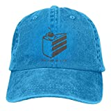 The Cake is A Lie Beam Trend Printing Cowboy Hat Fashion Baseball Cap for Men and Women Black