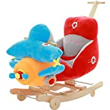 QXMEI Kinder Schaukelpferd Aus Massivholz Mit Doppeltem Verwendungszweck Babyspielzeug Schaukelstuhl Auto 1-4 Jahre Altes Geschenk