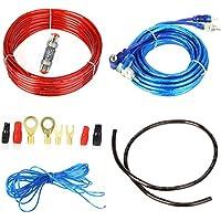 takestop® Kit Completo Cavi Audio RCA per ISTALLAZIONE Amplificatore Alimentazione in Auto