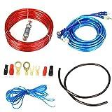 takestop - Kit completo de cables de audio RCA para instalación de un amplificador en el coche