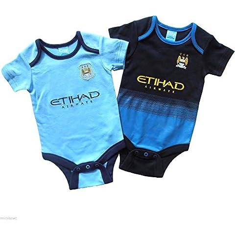 Ufficiale Manchester City FC-Baby-Body Grow Away & Home-Kit da calcio