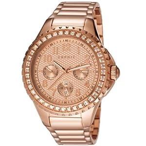 Esprit ES106622006 - Reloj analógico de cuarzo para mujer, correa de acero inoxidable chapado color oro rosa de Esprit