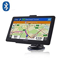SAT NAVS GPS Navigation System, 7 inch Pre-loaded World Latest 2019 Maps Lifetime Free Update For Car Truck/Lorry/HGV with Bluetooth AV-in POI Search Speed Camera Alerts lane Assistance
