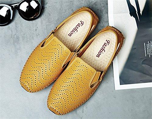 ALUK- Summer - Baotou Sandales de plage respirant Hollow hommes sandales ( Couleur : Le jaune , taille : 41 ) Le jaune