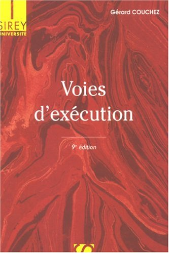Voies d'exécution par Gérard Couchez