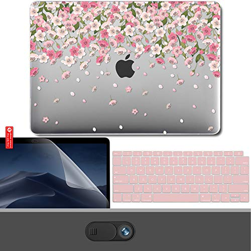 "Gmyle - Schutzhülle / Hardcase für MacBook Air 13 Zoll, Kunststoff, transparent rosa Cherry Blossom Floral MacBook Air 13"" Touch ID (A1932)"