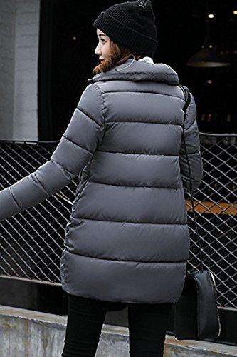 Un Sweat À Capuche Hiver Chaud Longtemps Les Parkas Matelassés Extérieur De La Tenue Grey