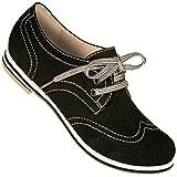 Aris Allen Women's Black Canvas Wingtip Dance Shoes