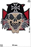 Patch - Totenkopf - Helm - Biker - Rocker - Chopper - Weste Aufnäher Embleme Bügelbild Aufbügler