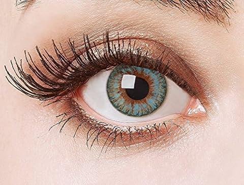 aricona Farblinsen blaue Cosplay Kontaktlinsen – Natürliche Circle Lenses, farbig bunte Jahreslinsen, Linsen für Anime & Manga Looks, für helle (Kostüm Farbige Kontakte Günstige)