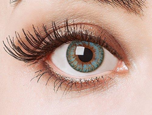 aricona Kontaktlinsen Farblinsen  Natürliche farbige Kontaktlinse The Famous Five   – Jahreslinsen für helle Augenfarben, ohne Stärke, Farblinsen als Modeaccessoire für den täglichen Gebrauch